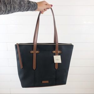Fossil NWT Faux Leather Back Brown Shoulder Bag